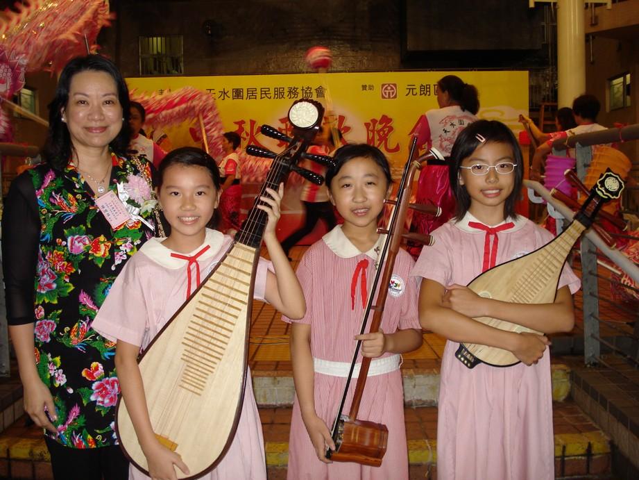 中樂團同學參與社區演出